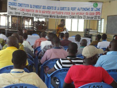 SYNASUPAL bon 493x370 - Les agents de sûreté  du  Port Autonome de Lomé créent SYNASUPAL !
