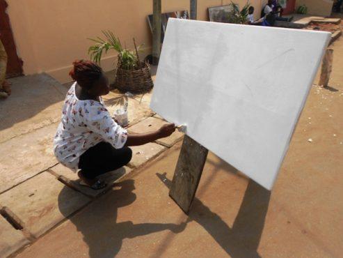 "Chantal KOUTADO 1 493x370 - Chantal Koutado/ Vivre sa vocation: ""l'art m'a saisie depuis le ventre de ma mère!"""