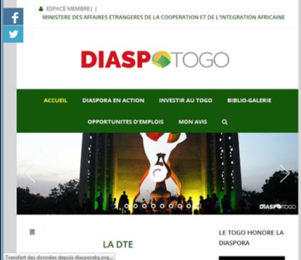 Site web diaspora 428x370 - www.diasporatg.org: un site web pour la diaspora togolaise