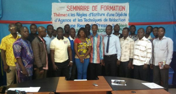Formation journalistes au Bénin 600x322 - 20 journalistes formés en écriture de dépêche à Parakou au Bénin