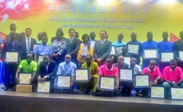 Promotion emploi entreprises chinoises 600x368 - Salon de la promotion de l'emploi par les entreprises chinoises au Togo : un millier de  demandeurs d'emplois ont participé à la rencontre