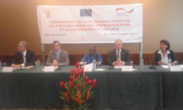 Programme décentralisation et gouvernance locale 600x360 - Le Togo lance le programme  ''décentralisation et  gouvernance locale '' appuyé par l'UE et l'Allemagne