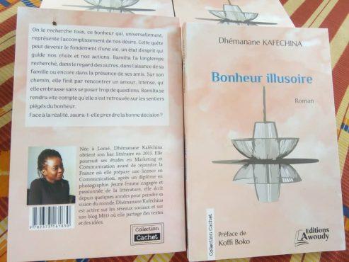 bonheur illusoire 1 493x370 - Vient de paraître : '' Bonheur illusoire'',  un roman de Dhémanane KAFECHINA