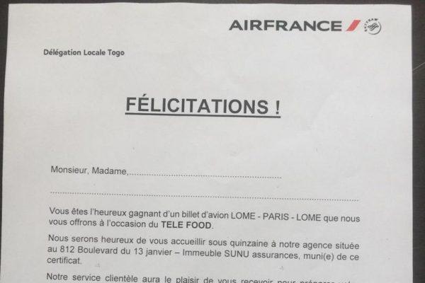 IMG 20191106 WA0087 600x400 - Tombola Téléfood : unbillet d'avion Lomé - Paris - Lomé attend son preneur