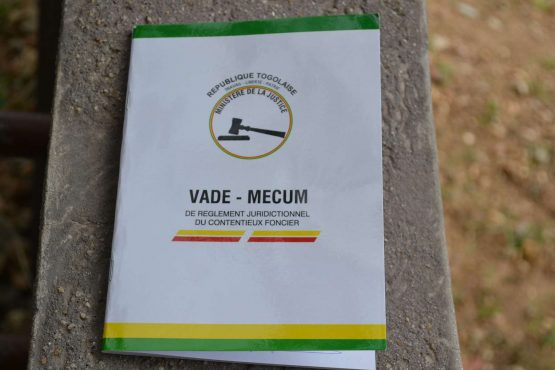 0726 0 555x370 - Litiges fonciers: un vade-mecum pour le  magistrat togolais