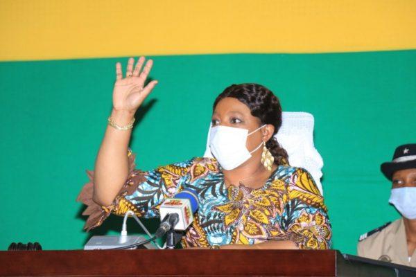 Yawa Tsegan pdte Assemblée nationale 600x400 - Assemblée nationale: feu vert à la loi sur l'alimentation scolaire