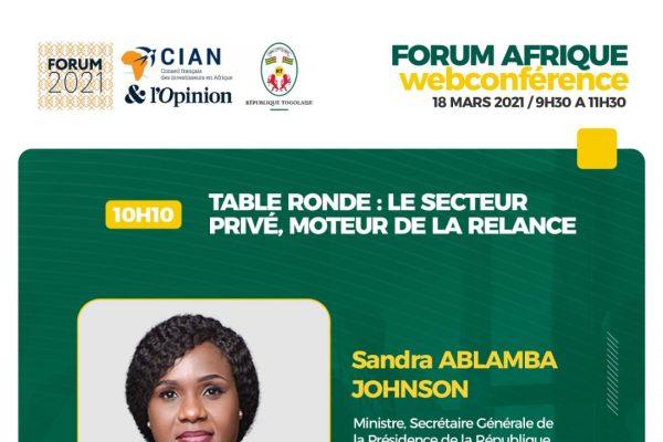 Forum Afrique 600x400 - Forum Afrique du CIAN 2021: c'est ce jeudi 18 mars en visioconférence