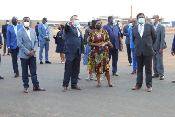 Visite PIA 600x400 - Togo/ PIA: les travaux avancent bien, constate Victoire Tomégah-Dogbé