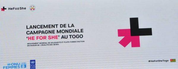HeForShe Lancement campagne au Togo 1024x398 1 600x233 - Togo/Campagne HeForShe: un mois pour promouvoir l'égalité des sexes
