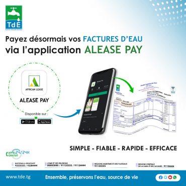 Application Alease pay 370x370 - ALEASE PAY : le tout nouveau moyen de paiement électronique à la TdE
