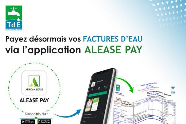 Application Alease pay 600x400 - ALEASE PAY : le tout nouveau moyen de paiement électronique à la TdE