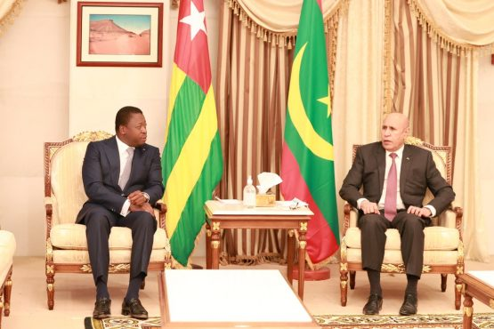 Faure pdt mauritanien 555x370 - Togo